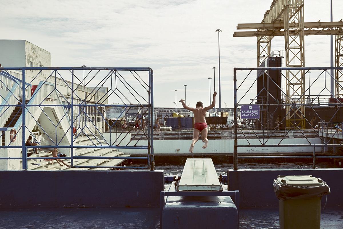 Trieste bagno ausonia piscina vecchia cartolina eur