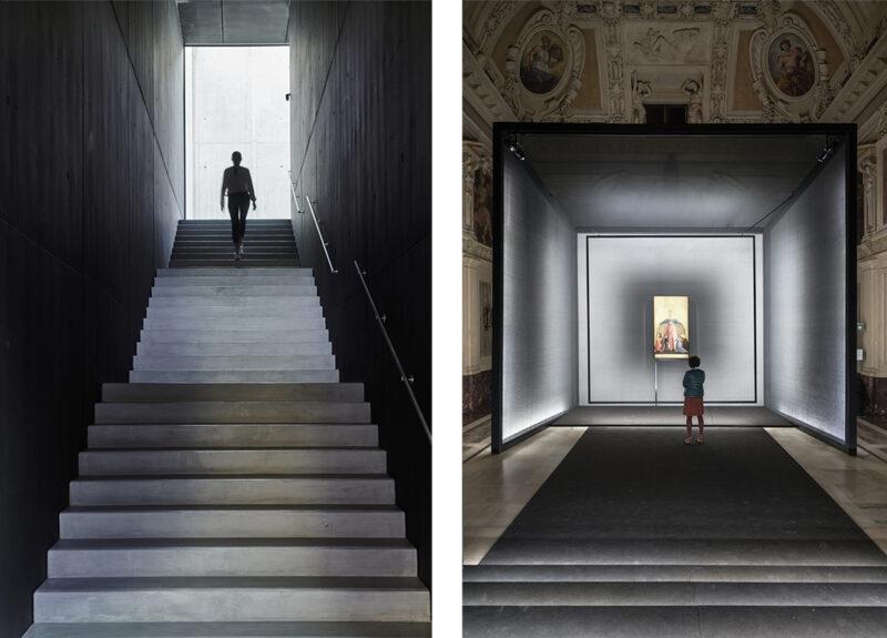 interni di mostre e museo