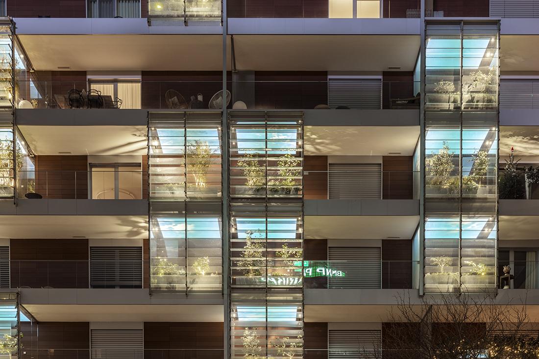 Illuminazione balconi Giardini d'inverno